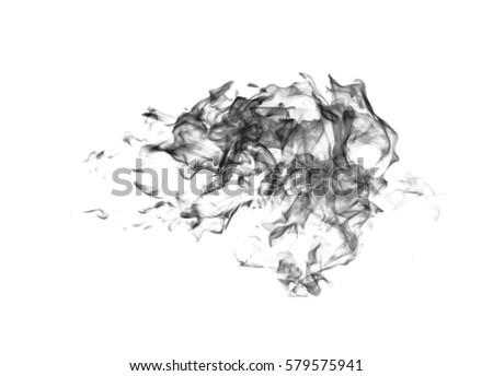 Black flame smoke on a white background #579575941