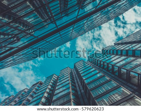 Skyscraper Buildings and Sky View #579620623