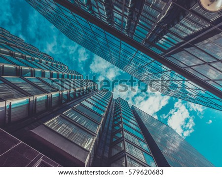 Skyscraper Buildings and Sky View #579620683