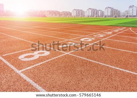 Stadium red runway #579665146