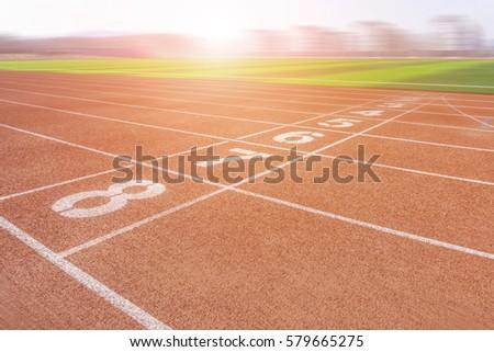 Stadium red runway #579665275