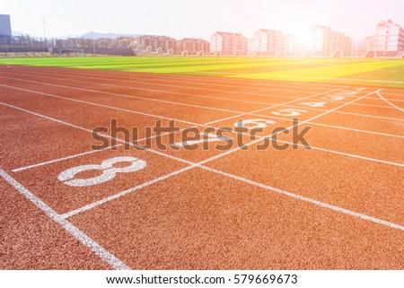 Stadium plastic runway #579669673