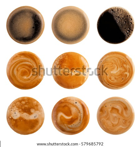 Coffee Foam isolated on white background #579685792