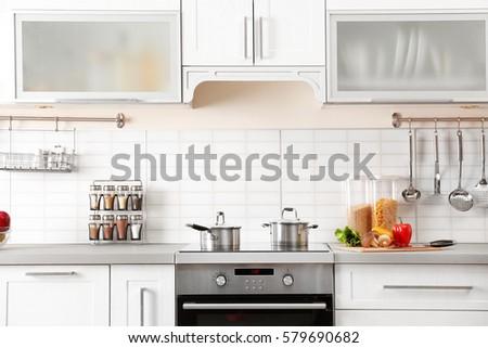 New modern kitchen interior #579690682