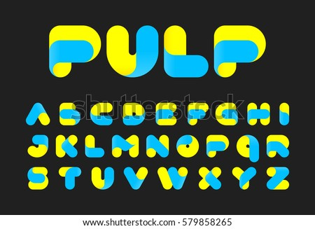 Twisted pulp font vector illustration #579858265