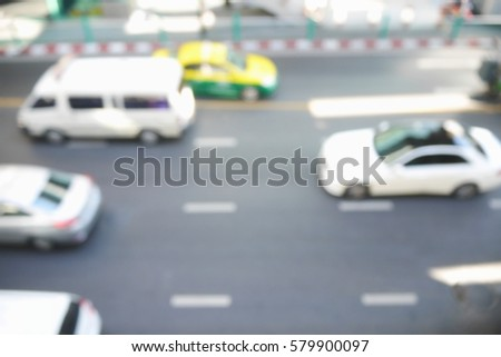 Picture blurred  for background abstract and can be illustration to article of traffic #579900097