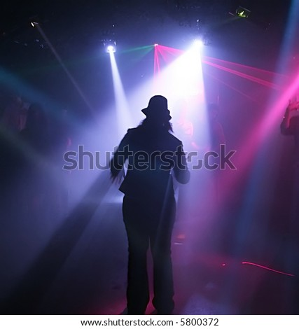 Dancing people in an underground club #5800372