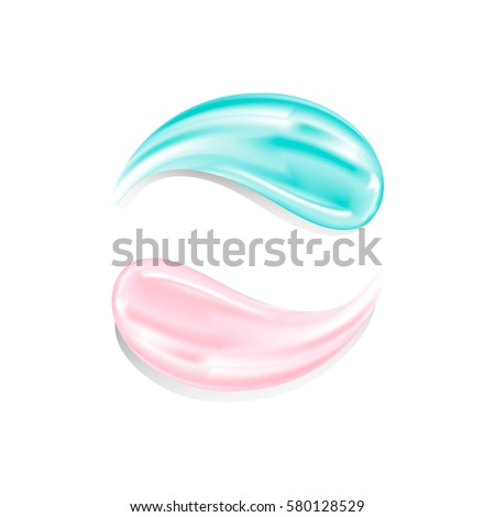 Cosmetic products. Smear the cream-gel on a white background #580128529