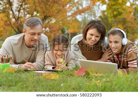 family spending time together  #580222093