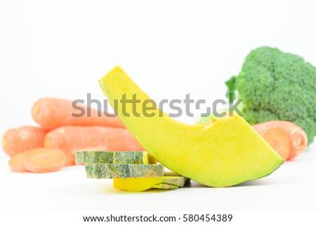Carrots, pumpkin,Broccoli,the ingredients of baby food #580454389