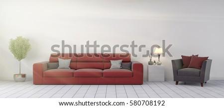 interior with sofa. 3d illustration #580708192
