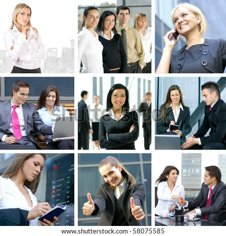 Business collage made of nine business pictures #58075585