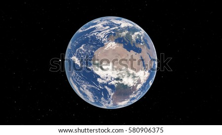 Planet Earth 3D illustration (Elements of this image furnished by NASA) #580906375