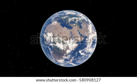 Planet Earth 3D illustration (Elements of this image furnished by NASA) #580908127