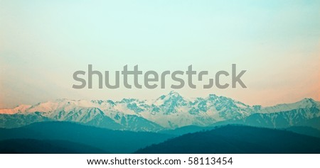 Beautiful mountains and the sky in a haze #58113454