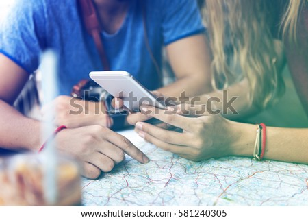 Photo Gradient Style with Couple traveling together wanderlust trip #581240305