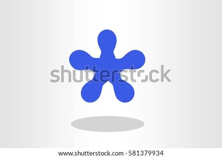Illustration of blue blob against plain background #581379934