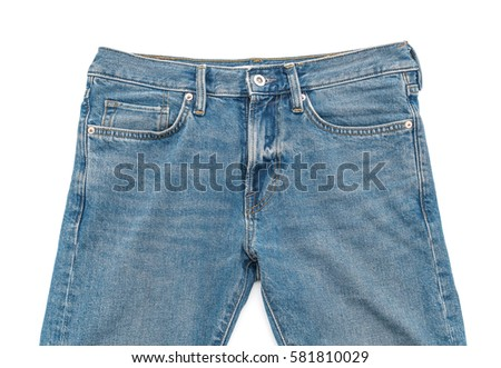 Blue Jeans on white background #581810029