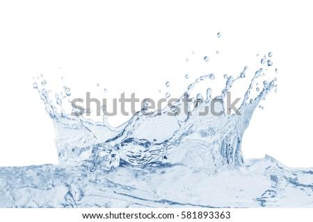 Water splash,water splash isolated on white background,water #581893363