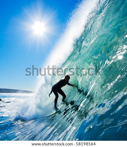 Surfer in the Barrel #58198564