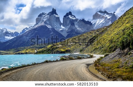 Torres Del Paine National Park Chili Patagonia South America Royalty-Free Stock Photo #582013510