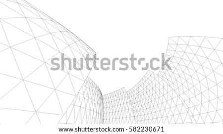 Architectural drawing. Futuristic background Royalty-Free Stock Photo #582230671