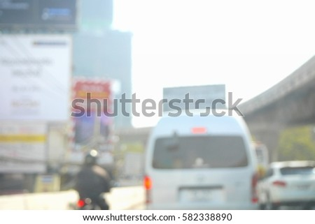 Picture blurred  for background abstract and can be illustration to article of traffic #582338890
