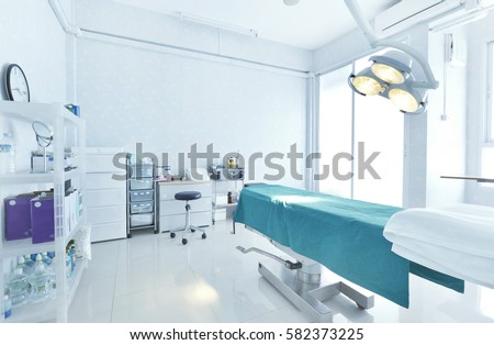 Interior view of operating room #582373225