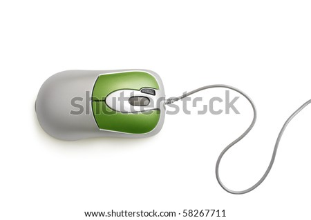 computer mouse isolated on white #58267711