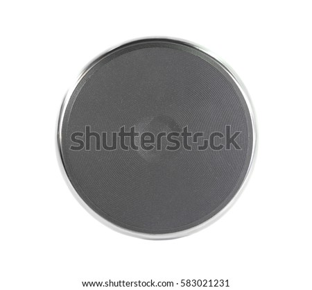 Electric burner isolated on white. #583021231