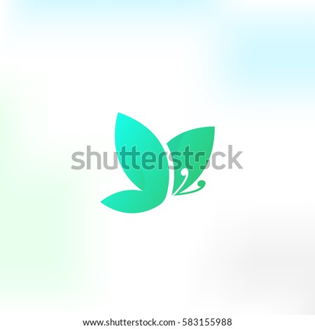 Unusual Butterfly vector logo.