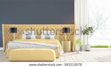 Modern bright interior . 3D rendering #583213078