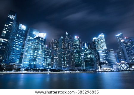 Modern architecture, office building cityscape background. Royalty-Free Stock Photo #583296835
