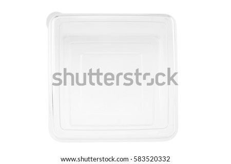 Plastic container on white background. #583520332