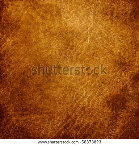 Brown leather texture closeup. Useful as background for design-works. #58373893