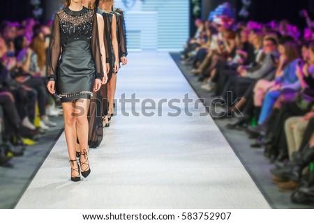 Defile on fashion show