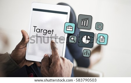 Business Venture Target Goals Expansion Entrepreneur #583790503