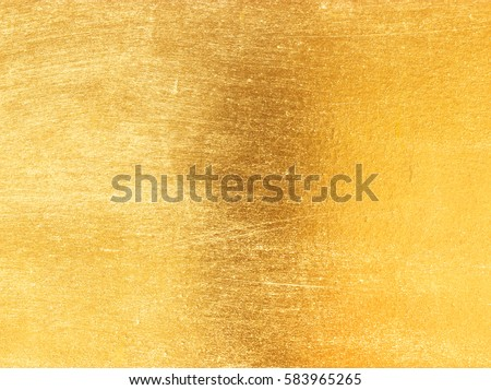 Shiny yellow leaf gold foil texture background #583965265
