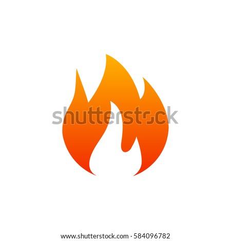 Fire. Icon illustration for design