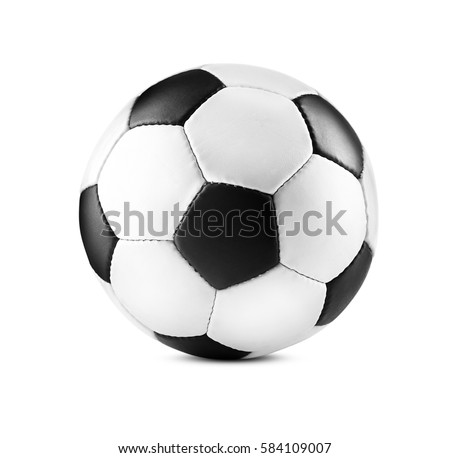 Soccer ball, isolated on white Royalty-Free Stock Photo #584109007