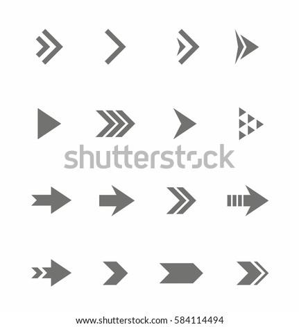 Arrow Icon vector Set Royalty-Free Stock Photo #584114494
