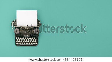 Vintage typewriter header #584425921