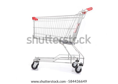 Grocery handcart Royalty-Free Stock Photo #584436649