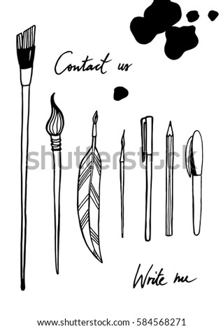 Writing Tools - Vector Image #584568271
