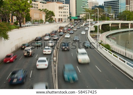 cars on the riverside expressway #58457425