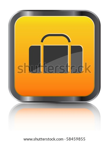 orange icon luggage isolated on white background #58459855