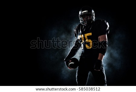 American football sportsman player Royalty-Free Stock Photo #585038512