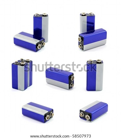 Set of 9 volt batteries #58507973