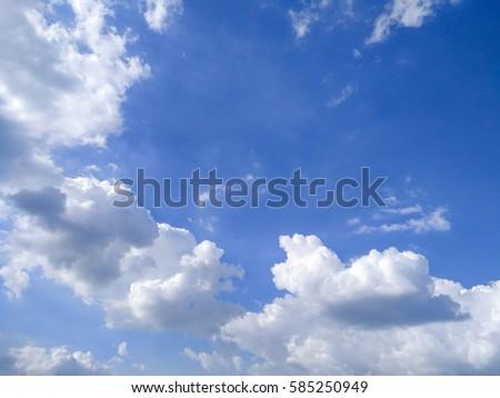 Deep Blue Sky & Clouds  #585250949