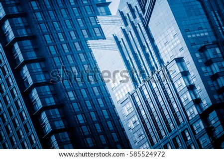 detail shot of high-rise buildings in modern city,Shanghai,China. #585524972
